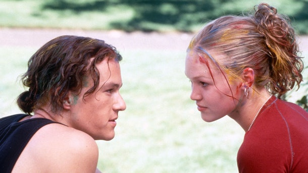 Heather Ledger and Julia Stiles as Kat and Patrick in 10 Things I Hate About You.