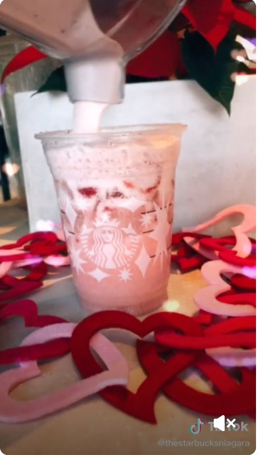 Try this secret menu Starbucks drink for Valentine's Day.