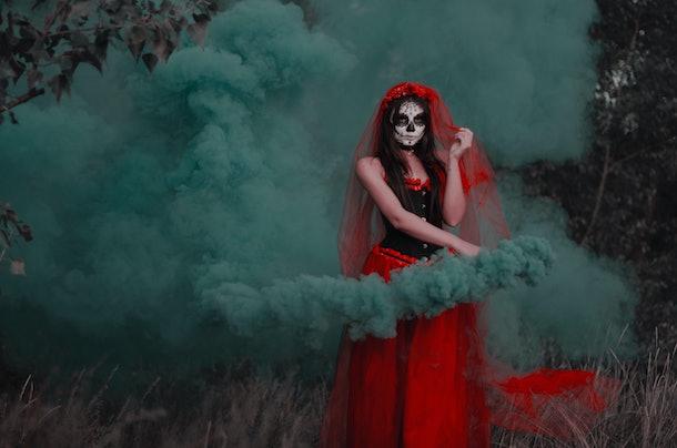 santa muerte mystic lady death! Halloween night!