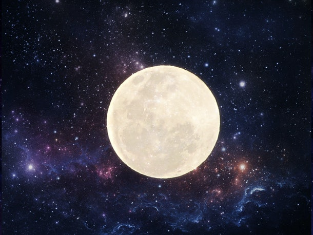 moon and outer space