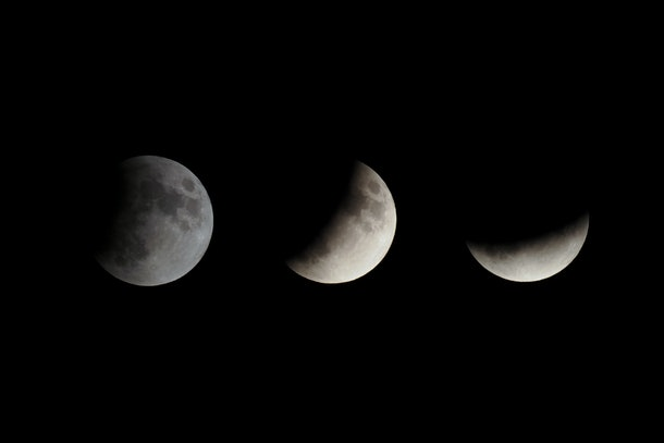 many different phases of a lunar eclipse occurs when the Moon passes directly behind Earth and into its shadow