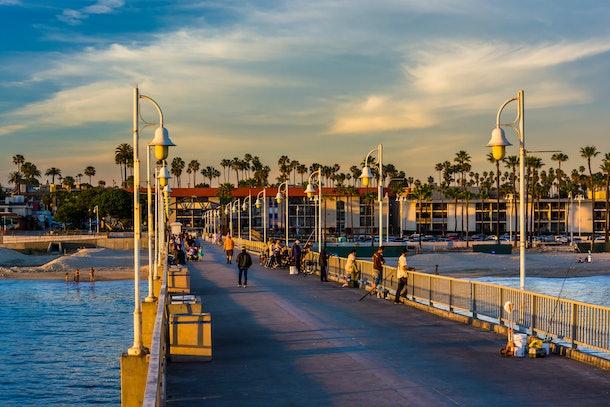 The Belmont Pier in Long Beach, California.
