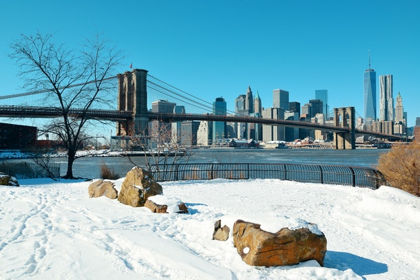 The Brookyln Bridge in New York City in the winter is the perfect spot to propose.
