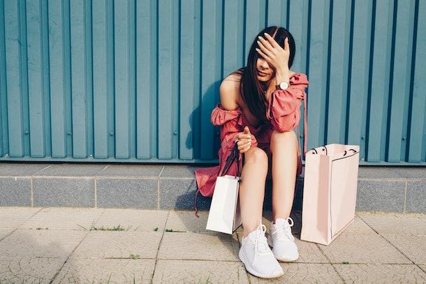 Women sexy. tiring shopping. boring shopping.