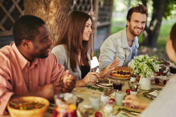 If you're going to see your ex at Friendsgiving, taking a walk or busting out a game can help break the tension when you're feeling awkward.