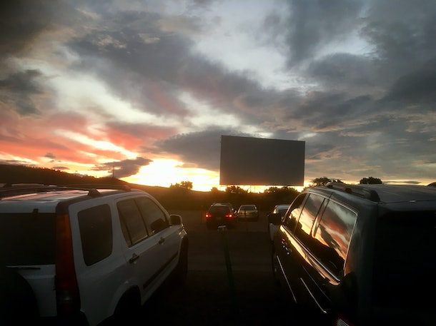 Outdoor drive in cinema USA