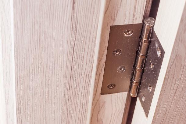 Door hinges. Hinges for wooden doors in the interior