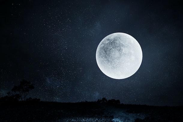 Full moon night sky background