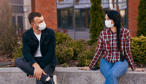 Worried about dodging a kiss during a pandemic date? Just have a convo about personal boundaries ahead of time.