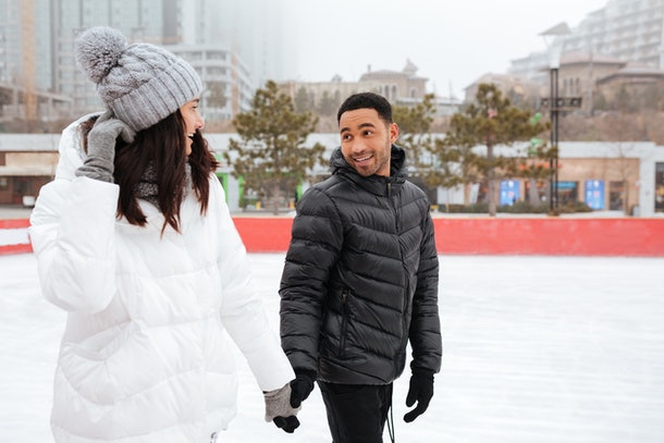 Outdoor winter dates to try during the pandemic include ice skating.