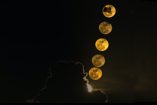 Full Moon full moon party rising moon