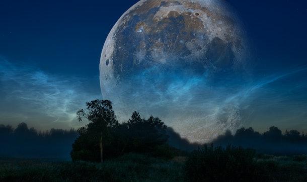 big moon in the night