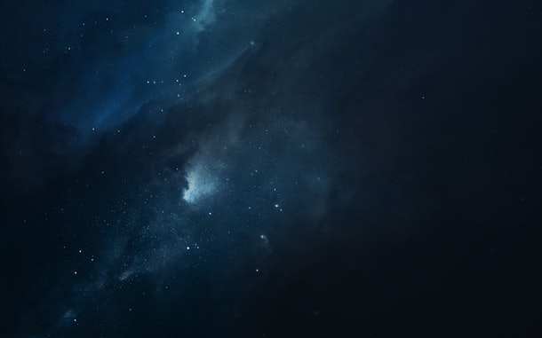 Cosmic landscape, beautiful science fiction wallpaper with endless deep space. Elements of this image furnished by NASA