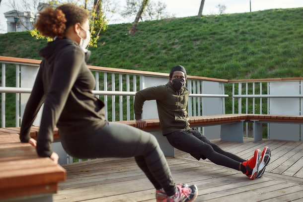 Looking for socially distant first date ideas? Try an outdoor workout class.